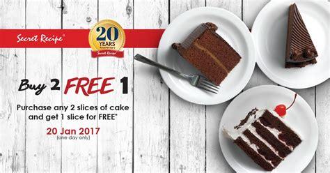 secret recipe promotion secret recipe promotion on 20 jan 2017 couponmalaysia