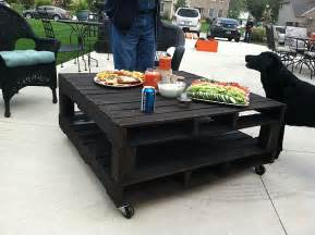 Patio Table Pallet Three One Egg Pallet Patio Table