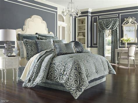 j queen new york comforter sicily teal by j queen new york beddingsuperstore com