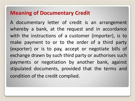 Documentary Letter Of Credit Costs documentary credit or letter of credit