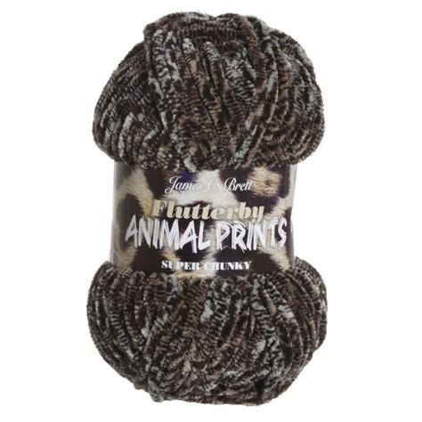 leopard pattern yarn james c brett flutterby animal prints yarn 02 leopard