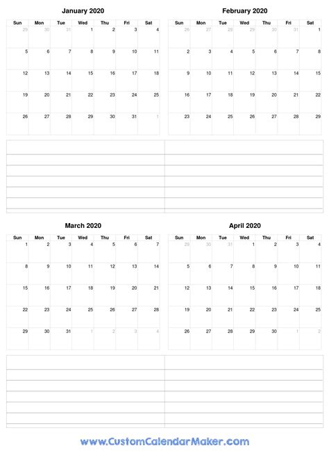january  printable calendars blank  templates