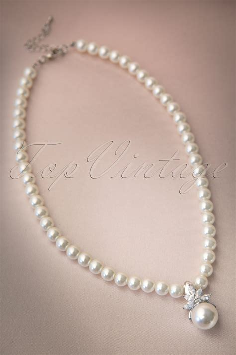 Flower Pearl Necklace Top 30s dazzling flower pearl necklace