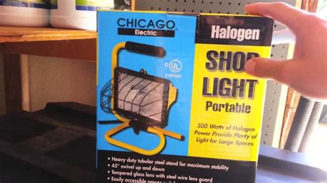 work lights at harbor freight harbor freight tools portable halogen shop light review