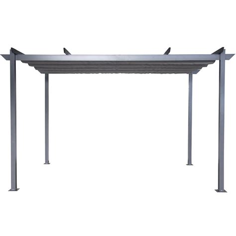 fixed gazebo mimosa 4 x 2 8m grey semi permanent retractable roof gazebo