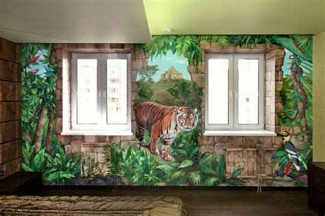 interior wall murals interior wall mural in a bedroom denver custom wall murals