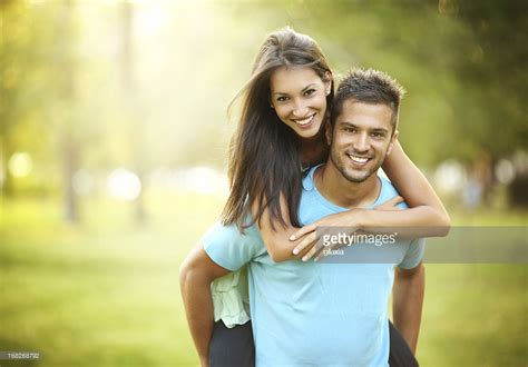 Images Couples happy in park stock photo getty images