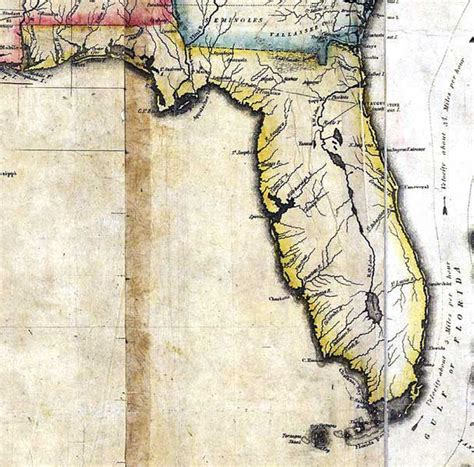 florida cession map detail map of the united states of america 1816