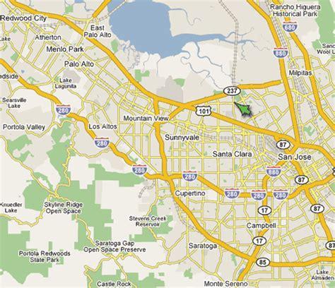 santa clara california map map of santa clara california california map