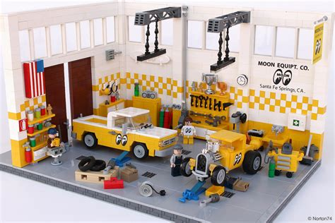 tutorial lego single car garage labour of love pit stop for hot rods recreated from real