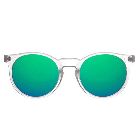 Green by Gafas De Sol Redondas De Montura Transparente Gafas De