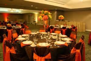 wedding color inspiration chocolate and burnt orange