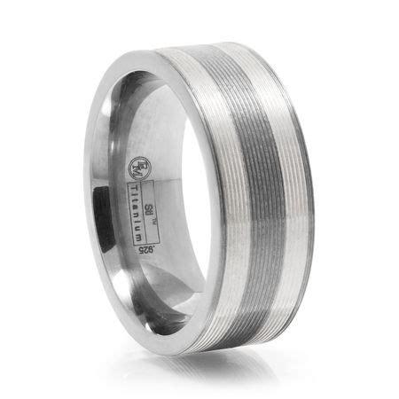 ridged titanium silver ring by edward mirell