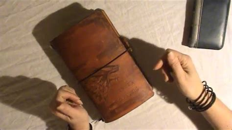 Notebook Giveaway - closed my very first pyrography traveler s notebook and a giveaway youtube