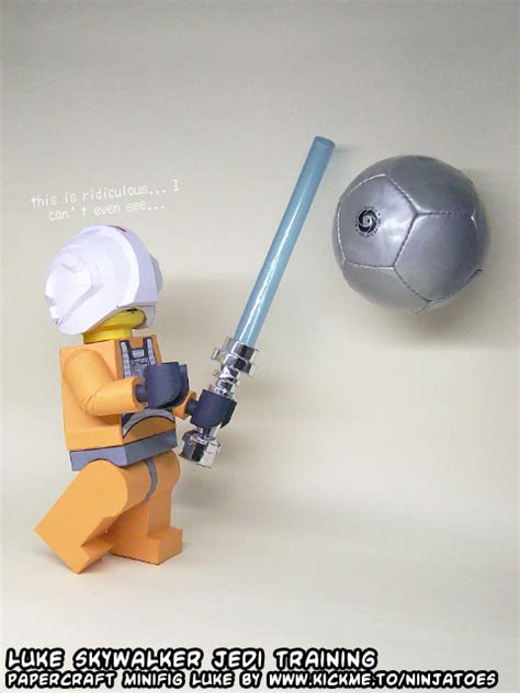 Wars Lightsaber Papercraft - papercraft lego wars jedi lightsaber by