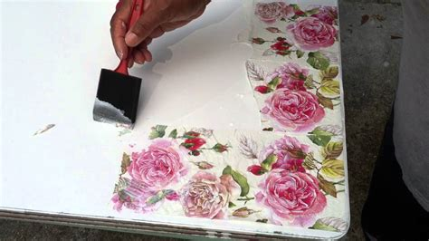 what do you need to decoupage my decoupage table diy project
