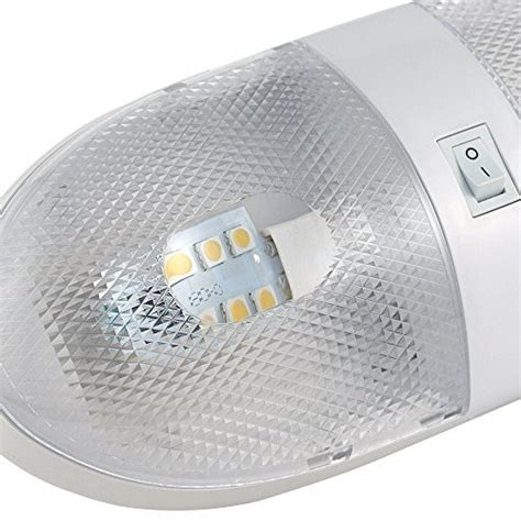replace rv interior lights with led lumitronics double led rv dome light with on off switch