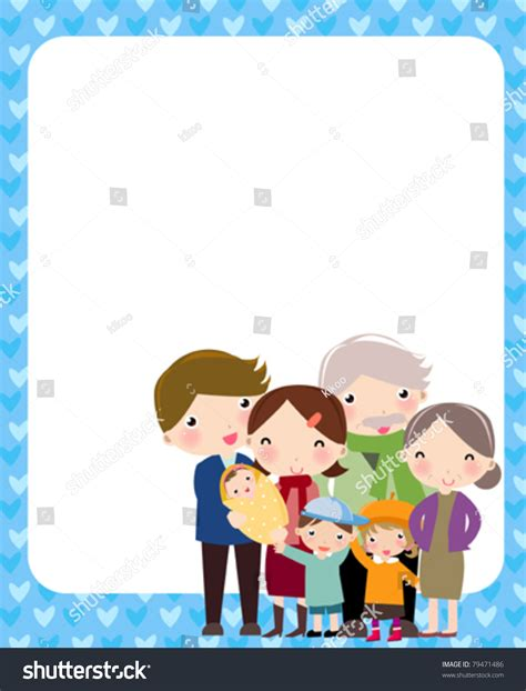 family pic frames happy family and frame stock vector illustration 79471486