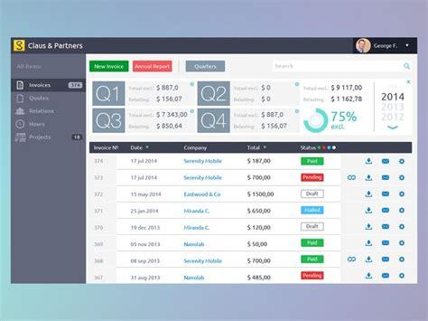 invoice ui design invoices dashboard by george frigo tablet ui design