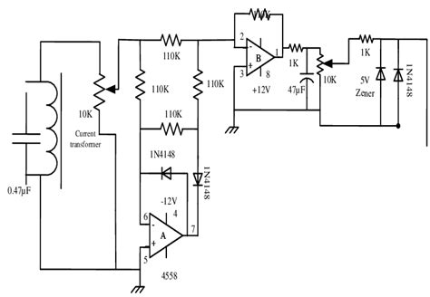 circuit diagrams of the current transformer and precision