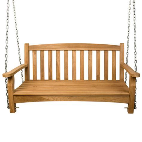 teak swing teak outdoor arched swing with rope outdoor