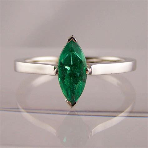 marquise cut emerald ring ring jewellery