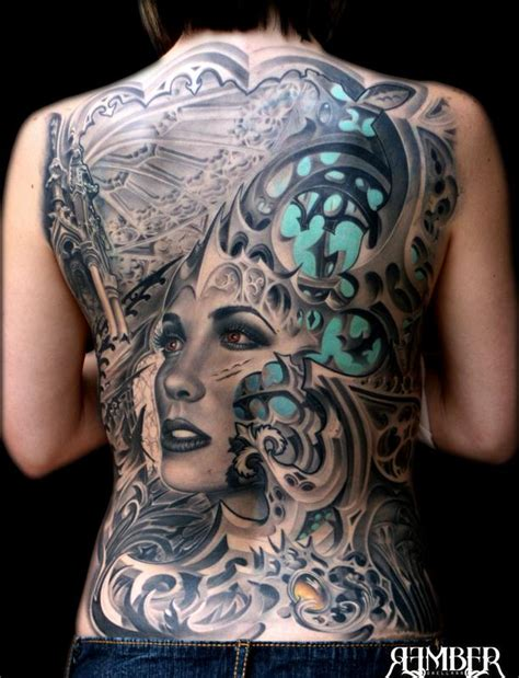 full back piece by watsun atkinsun tattoonow gothic back by rember tattoonow