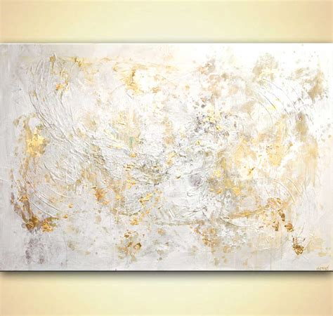 White Gold Abstract Top Size Sml large modern white textured abstract painting 60 quot x40 quot palette knife by osnat ebay
