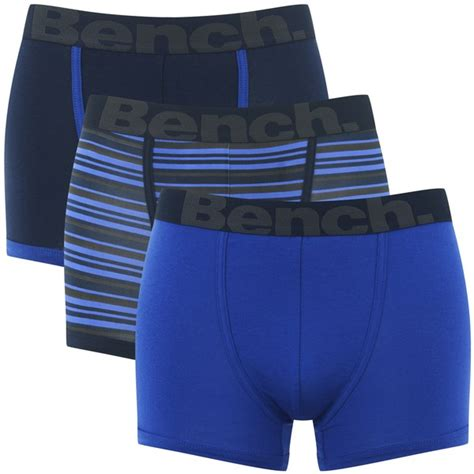 bench boxers bench men s 3 pack striped boxers blue mens underwear zavvi com