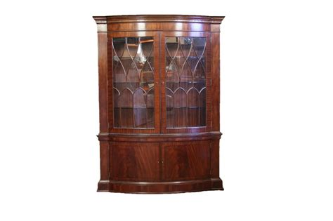 high end bow front mahogany china cabinet ebay