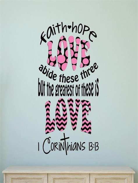 scripture art home decor wall art faith hope love set faith hope love bible verse vinyl decal wall decor sticker