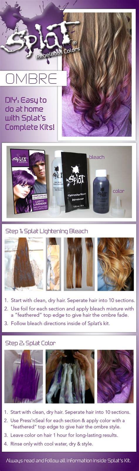 splat hair color ideas splat ombre dip dye diy splat hair color ideas