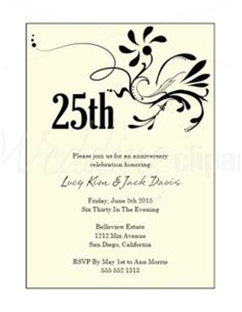 Invitation Letter 25th Wedding Anniversary Wedding Theme Pictures 25th Anniversary And Invitation Wording On