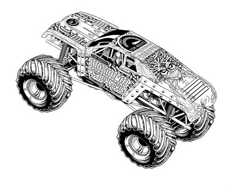 monster mutt coloring page monster truck coloring pages monster truck coloring pages