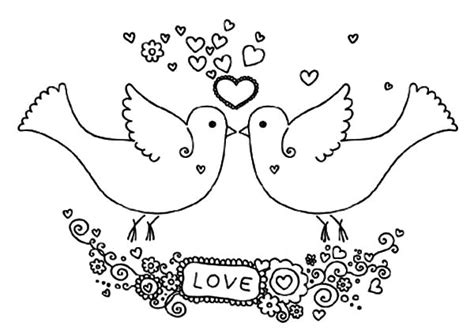 coloring pictures of lovebirds love birds pered her couple coloring pages batch coloring