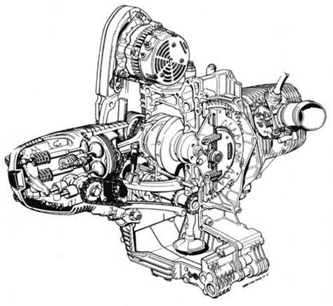 great cut  drawings  bmw engines