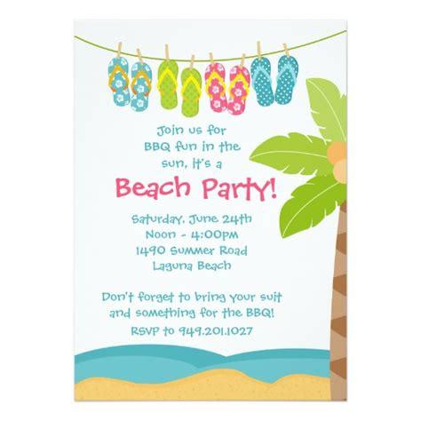 free summer invitation templates summer invitation zazzle