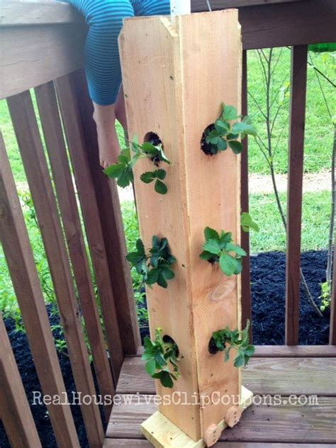 How To Make A Vertical Strawberry Planter by Save Space In Your Home Or Garden By Creating Vertical