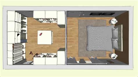 Begehbarer Kleiderschrank Kleines Schlafzimmer by Begehbarer Cabinet Kleiderschrank Im Schlafzimmer Geplant