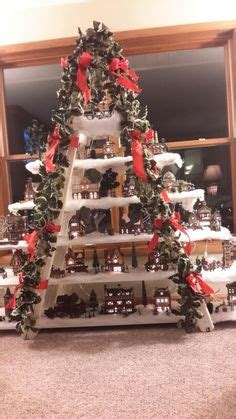 christmas village ladder display details about how to build a house display stand dept 56 lemax