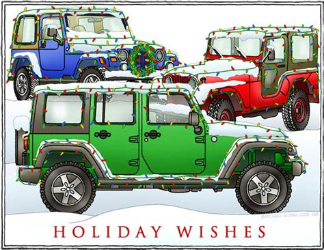 jeep christmas all things jeep holiday wishes 3 jeeps holiday cards