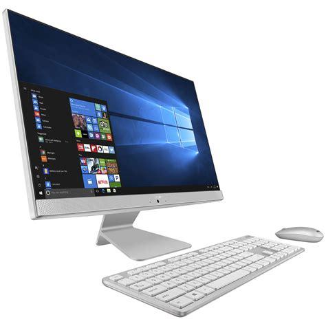 ordinateur de bureau en wifi asus vivo aio v241icuk wa039t blanc pc de bureau asus