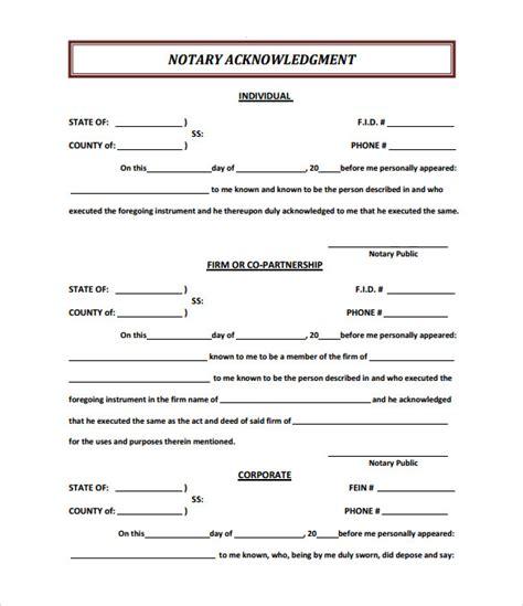 9 sle notary statements free sle exle format