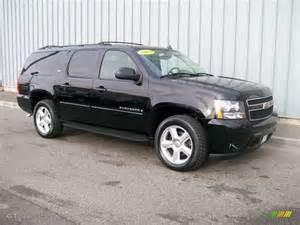 2007 black chevrolet suburban 1500 ltz 4x4 1085799