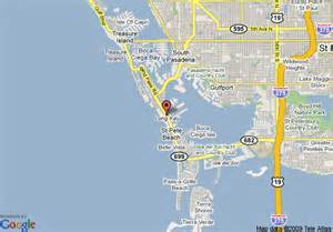 coral florida map map of coral reef resort petersburg
