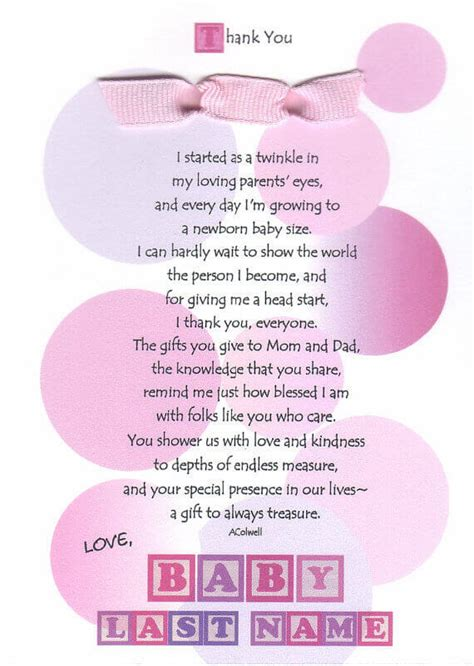 Thank You For Baby Shower Gift Poem by Simple Baby Shower Thank You Poems Baby Shower Ideas
