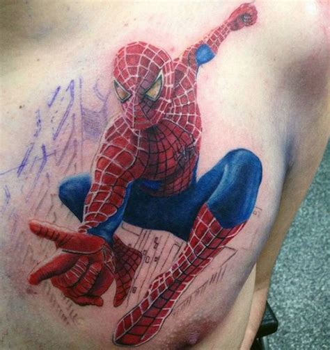 biomechanical tattoo spiderman spiderman chest tattoo designs ideas and meaning