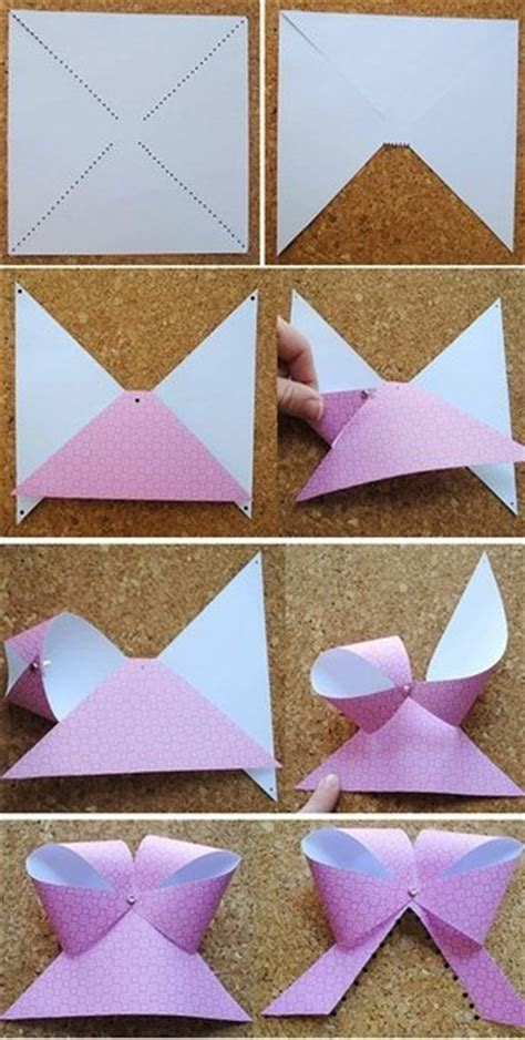 diy paper bows 3 d paper crafts to make
