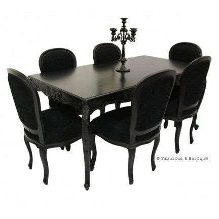 ornate dining table and chairs carved dining table 6 chairs black modern