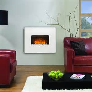 living room heater electric wall mounted fire fireplace white mdf flicker